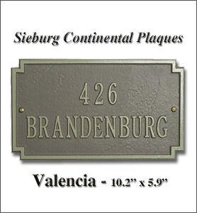 Whitehall Granada Valencia Address Personalized Plaque Marker Sign Compact Size