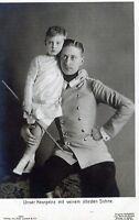 """Ansichtskarte """"Unser Kronprinz mit seinem ältesten Sohne"""""""