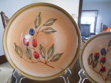 "Berries Fruit Collector Dinner Plate(s) 10 1/2"" Gibson Stoneware Brown Green Red"
