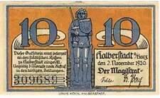 Duitsland stadsgeld / Notgeld - Halberstadt - 10 pfennig (1260)