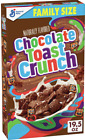NEW GENERAL MILLS CHOCOLATE TOAST CRUNCH CEREAL FAMILY SIZE BOX FREE SHIPPING