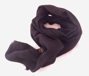 100% Cashmere Black Color Pashmina Muffler NEPAL
