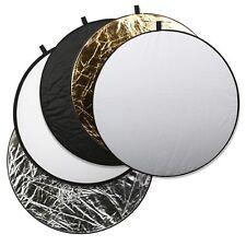 5in1 Rund Faltreflektor Set 80cm Multi Reflektor für Fotostudio Tasche Faltbar