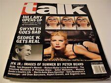 Talk Magazine-Premier Edition-September 1999- Hillary - JFK Jr- Gwyneth Paltrow