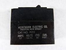Heinmann Electric P0111 Circuit Breaker 1.7Amp 120VAC 60Hz  USED