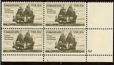 Scott 2040 20¢ Concord Plate block of 4 MNH Free Shipping!!!