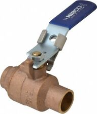 "Nibco S-585-70-LL 1"" Solder Two-Piece Bronze Ball Valve w/ Locking Lever Handle"