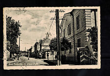 1943 Biala Podlaska Poland Germany GG Postcard cover Real Picture STreet View