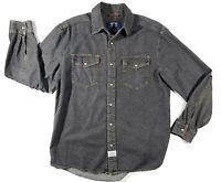 Levi's Blue Denim WPL 423 Long Sleeve Button Up Pearl Snap Shirt Medium