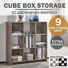 MEYA Cube Storage Shelf Unit Scandinavian Oak Modern Storage Furniture