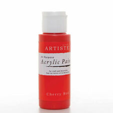 DoCrafts Artiste Cherry Red Acrylic Craft Paint - 59ml