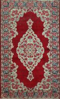 Antique Floral Traditional Area Rug Hand-Knotted Oriental Kitchen Carpet 4x7 RED