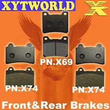 Front Rear Brake Pads Polaris 425 Xpedition 4x4 2000