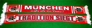 "München Schal ""TRADITION SIEGT"" Fan Supporter Ultra NEU +100% Acryl 150x15 cm"