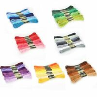 8pcs/set DMC Cross Stitch Cotton Embroidery Thread Floss Sewing Skeins Craft
