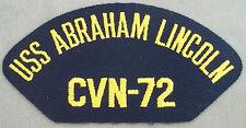 US Navy Cap Patch USS Abraham Lincoln  CVN - 72