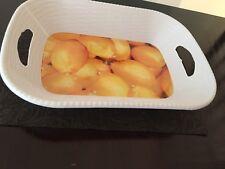 Plastic Food Yellow Lemon Fruit Basin Basket White Serving Bowl Free Shipping