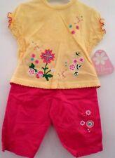 bébé filles 0-3 mois haut & pantalon neuf Dizzy Daisy coton fleurs & noeuds