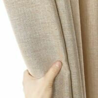 1 Pc Blackout Curtains For Living Room Custom Solid Color Thick Modern Curtain B