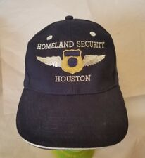 Home Land Security Houston Cap Trucker Hat Navy adjustable embroider ICE CBP