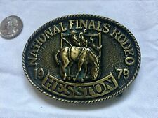 Vintage 1979 Hesston Belt buckle National Finals Rodeo 5th Edition!