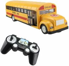 Fistone Remote Control School Bus 2.4G Vehicles Toys with Sounds and Lights