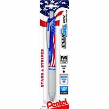 Pentel EnerGel RTX - USA American Flag Gel Ink Pen - Medium Point Black Ink 1PC