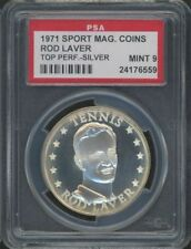 1971 Rod Laver Sport Magazine Top Performers Coin Silver PSA 9 MINT