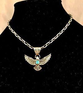 Navajo Sterling Silver Eagle Pendant by Kay Delgarlto