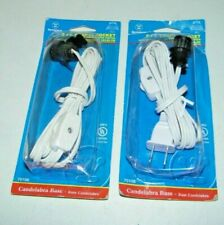 (2) Westinghouse 6 Ft. White Cord Snap-In Socket with On / Off Switch NEW Sealed