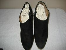 Steve Madden LIPSTIK 8 1/2 M Black Suede Ankle Boots High Heels Booties Shoes