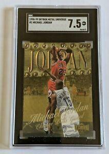 1998-99 Metal Universe #1 Michael Jordan Chicago Bulls  SGC 7.5