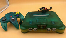 TESTED - CLEANED - FADED -  Nintendo 64 Ice Blue W/ Cords & Controller N64 SALE!