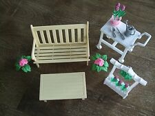 1996 Barbie Flower Garden Set Furniture + Accessories for Folding Pretty House