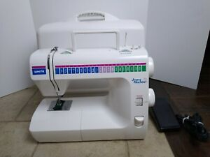 White Precision Built, Blue Jeans Machine Sewing Machine Model 1977 With Cover