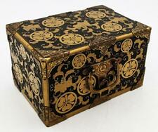 More details for edo period japanese lacquer & gilt metal box 18th century