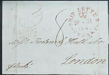 NSW Pre stamp ship letter Sydney De 31 1841 to London 22 May 1842
