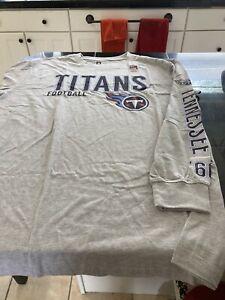 MENS NFL Team TENNESSEE TITANS LONG SLEEVE SHIRT GRAY XL/XLT NWT