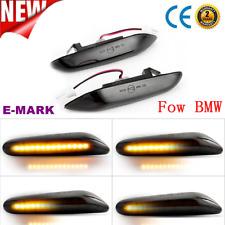 1Pair Sequential LED Side Marker Indicator Light For BMW E90 E91 E92 E60 E87 E82