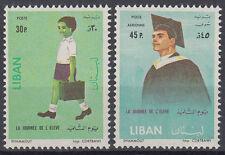 Libanon Lebanon 1962 ** Mi.792/93 Bildung Erziehung Education Schüler Lehrer