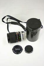 Canon 135mm f2.5 S.C. manual focus lens with caps and case
