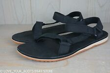 91fc7b515797 TEVA ORIGINAL UNIVERSAL PREMIUM LEATHER BLACK SANDALS MENS US 14 NIB