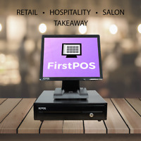 FirstPOS 17in Touch Screen POS EPOS Cash Register Till System Retail /Restaurant