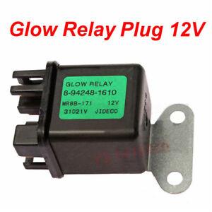 Glow Relay Plug 12V for Isuzu Hitachi ZAXIS27U ZAXIS50U ZAXIS40U 8942481610