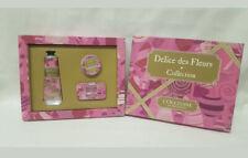 L'Occitane Delice Des Fleurs Hand Cream,Lipgloss,Perfume Set Candied Rose Violet
