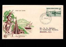 Papua & New Guinea Port Moresby 1st Day 1963 Island Scene 8d Cover 5l