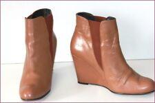 MINELLI Bottines Boots Cuir Marron Talons Compensés T 40 TBE
