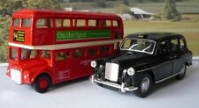 Red London Bus & Black Taxi Cab Boys Toy Dad Models Gift Christmas Present Boxed