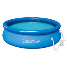 Summer Waves 10 Ft. Quick Set Inflatable Above Ground Pool with Filter Pump