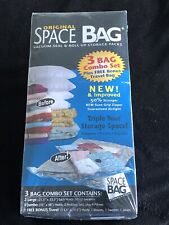 New Original Space Bag Vacuum Seal Travel Roll-Up Packing Bags (Includes 4 Bags)